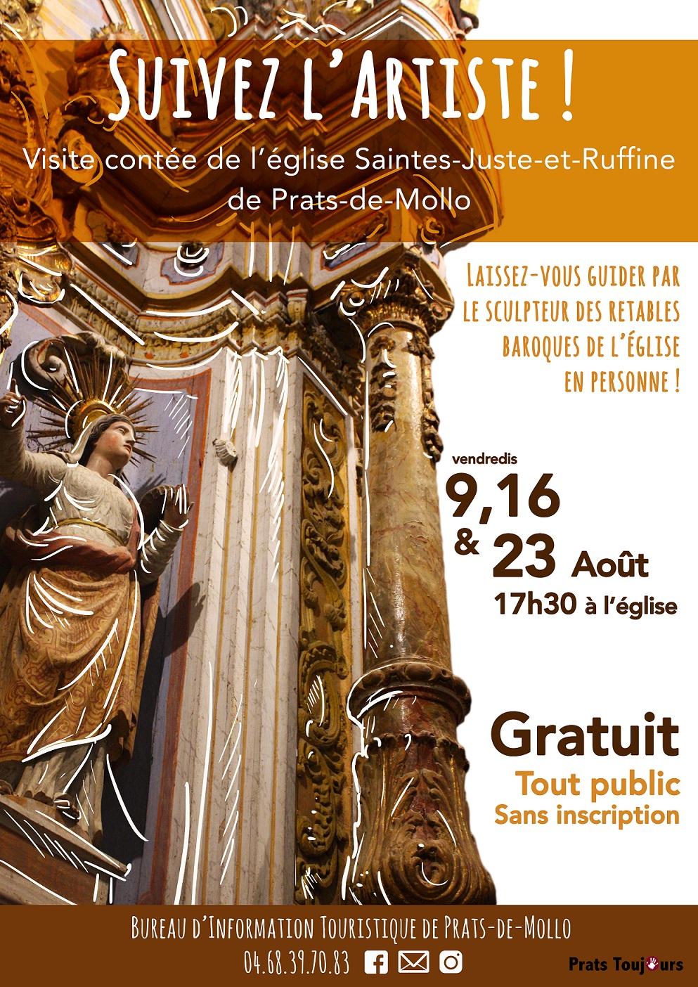 Visite contée de l'église «Suivez l'artiste !»