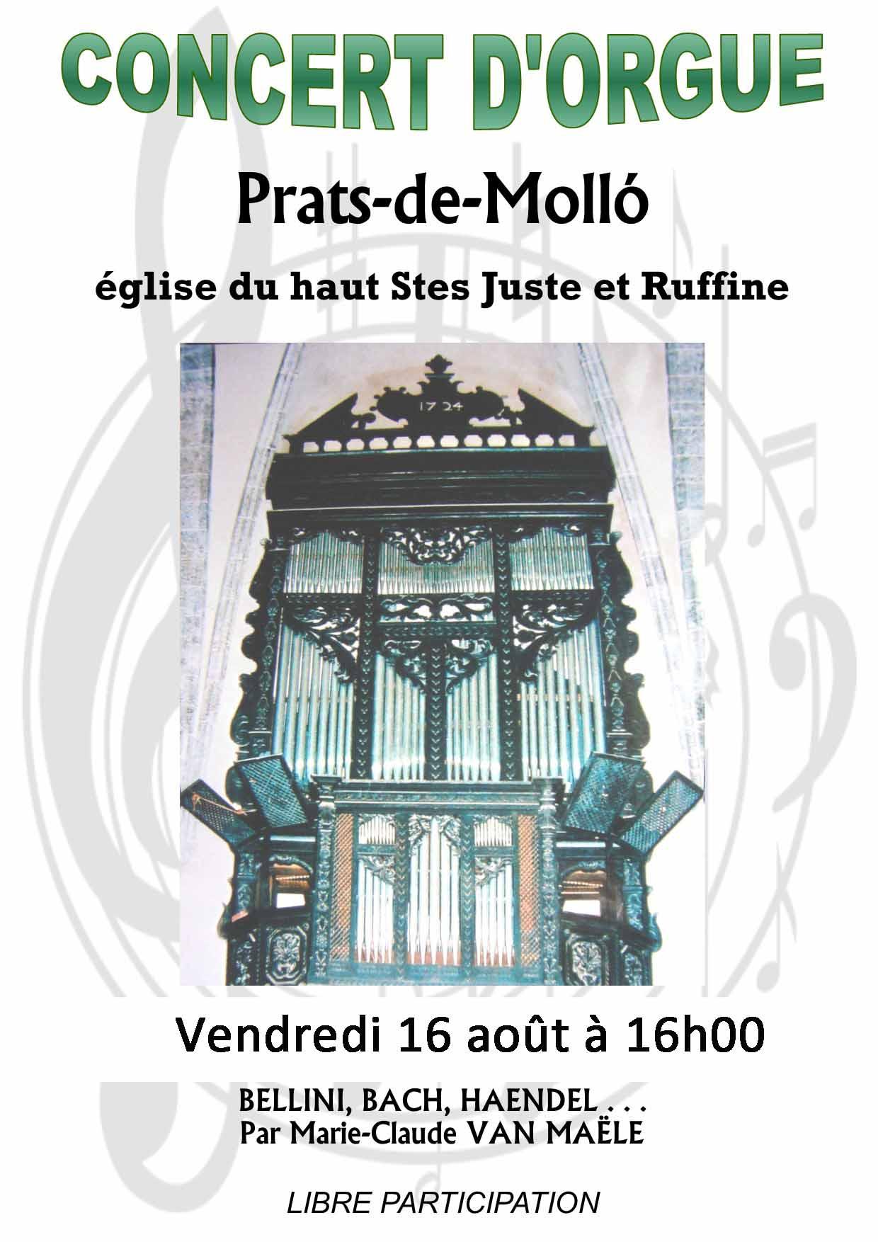 Concert d'orgues de Mme Van Maëlle