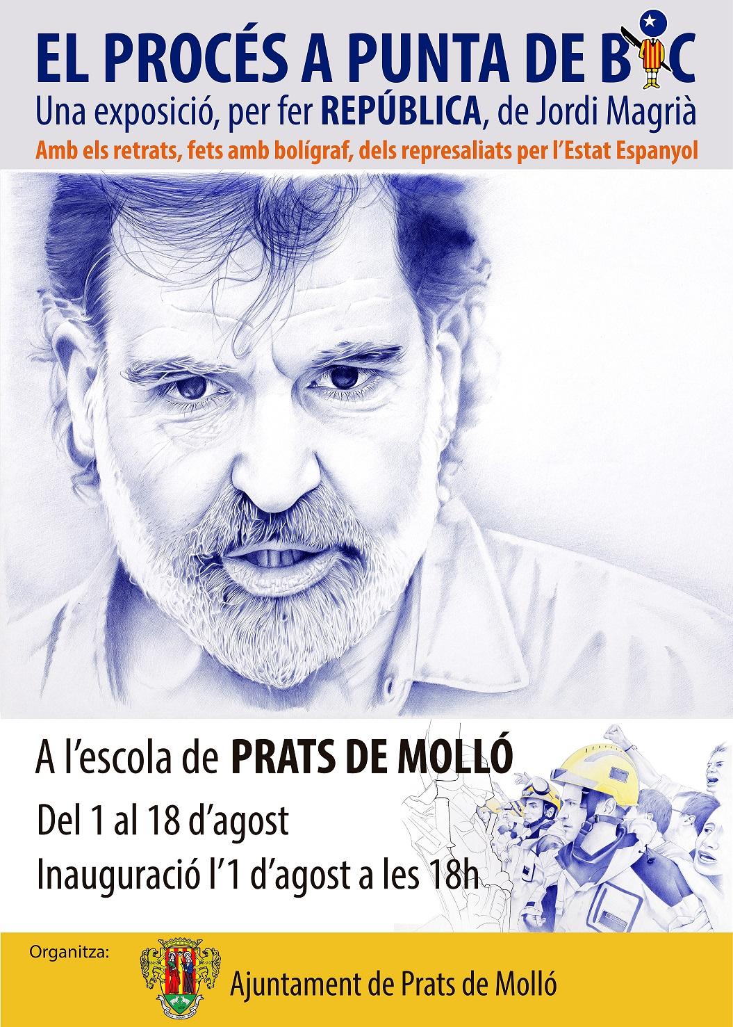 Inauguration de l'exposition Llibertat et les dessins de Jordi Magrià